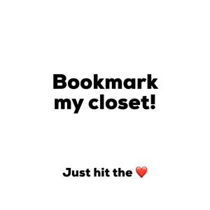 Other - Tap the ❤️ to bookmark my closet